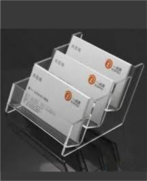 Acrylic multi utility products archives parshwaacrylics visiting card holder reheart Gallery
